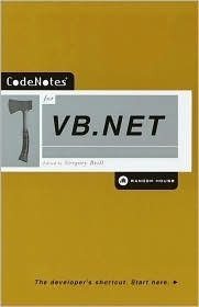 CodeNotes for VB.NET (Codenotes Series)  by  Gregory Brill