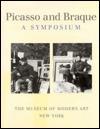 Picasso And Braque, A Symposium William Rubin