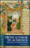 From Author to Audience: John Capgrave and Medieval Publication  by  Peter J. Lucas