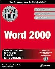 MOUS Word 2000 Exam Prep Carol Cram
