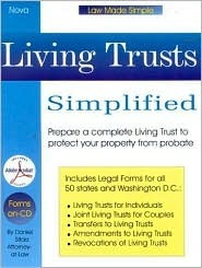 Living Trusts Simplified: With Forms-On-CD [With CDROM] Daniel Sitarz