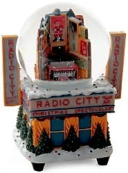 Radio City Times Square Globe 80MM Snowglobe Madison Square Garden Entertainment