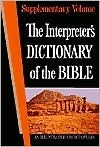 The Interpreters Dictionary of the Bible Supplementary Volume Victor Paul Furnish