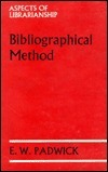 Bibliographical Method E. W. Padwick