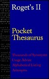 Rogets II Pocket Thesaurus  by  Peter Mark Roget