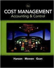 Sg-Cost Management: Acct & Control  by  Don R. Hansen