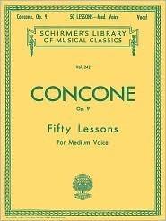 50 Lessons, Op. 9: Medium Voice  by  Concone Joseph