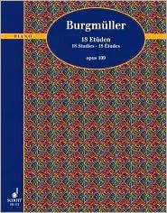 18 Etudes Op. 109: Piano Solo  by  Friedrich Burgmüller