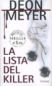 La lista del killer Deon Meyer