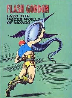 Flash Gordon into the Water World of Mongo  by  Alex Raymond