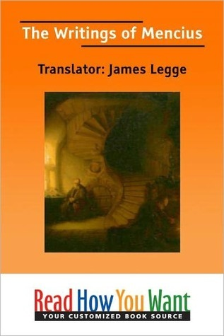 The Writings of Mencius  by  James Legge