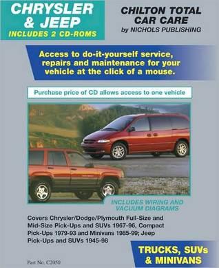 Chrysler & Jeep Trucks, Suvs, & Minivans 1967-1999 (2 CD Set in Jewel Case) Delmar Thomson Learning