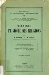 Mélanges d'histoire des religions Henri Hubert