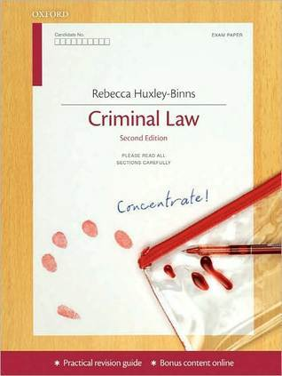 Criminal Law Concentrate  by  Rebecca Huxley-Binns