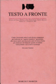 Testo a Fronte #27 Franco Buffoni