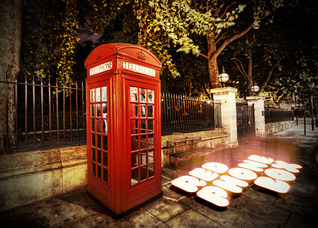 Red Phone Box  by  Salomé Jones