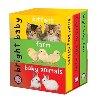 Bright Baby Slipcase (large): Kittens, Farms, Baby Animals Roger Priddy