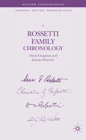 A Rossetti Family Chronology Alison Chapman