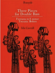 Three Pieces For Double Bass And Piano  by  Ida Carroll