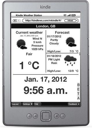 Kindle Weather Station team kindlews