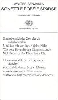 Sonetti e poesie sparse Walter Benjamin