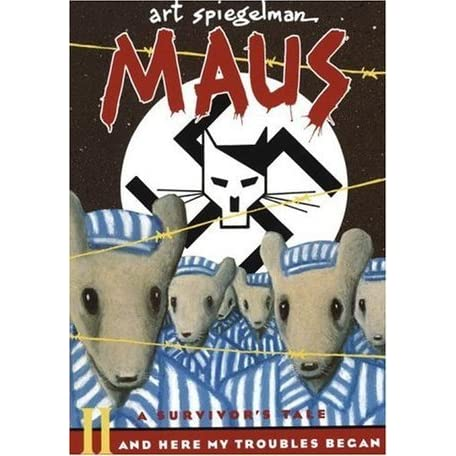 What are some of the main themes explored in Art Spiegelman's graphic novel, 'Maus'?
