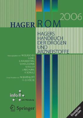 Hager Rom 2006. Hagers Handbuch Der Drogen Und Arzneistoffe: Einzelplatzversion/Windows W. Bartlott