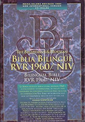 Biblia Bilingue RVR 1960/NIV: 1960 Reina-Valera Revision y New International Version (NIV), imitacion piel negra, indice  by  Anonymous