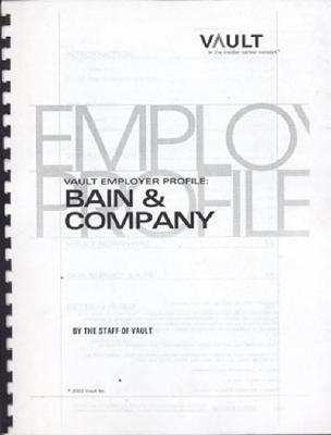 Vep: Bain & Company 2003  by  Vault