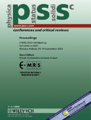 Proceedings E Mrs 2003 Fall Meeting Symposia A And C, Warsaw, Poland 15 19 September 2003:  Physica Status Solidi (C)   Conferences And Critical Reviews  by  Marek Godlewski
