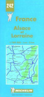 Michelin Alsace and Lorraine, France Map No. 242 Michelin