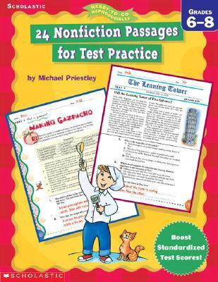 24 Nonfiction Passages For Test Practice: Grade 6 8  by  Michael Priestley