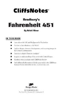 CliffsNotes on Bradburys Fahrenheit 451 (Cliffsnotes Literature Guides)  by  Kristi Hiner