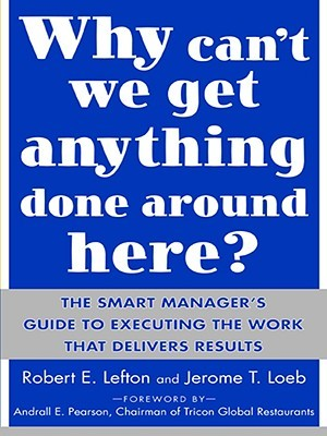 Why Cant We Get Anything Done Around Here?: The Smart Managers Guide to Executing the Work That Delivers Results: The Smart Managers Guide to Executing the Work That Delivers Results  by  R. Lefton