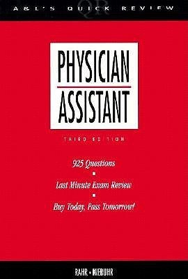 Appleton and Lange Quick Review Physician Assistant Richard R. Rahr