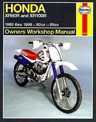 Honda XR80/100R owners workshop manual  by  Alan Ahlstrand