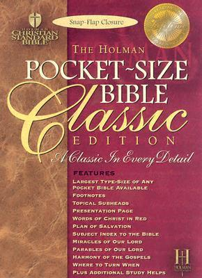 HCSB Pocket Size Bible Classic Edition Snap Flap Blue Anonymous