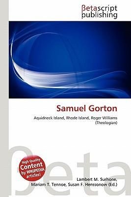 Samuel Gorton NOT A BOOK