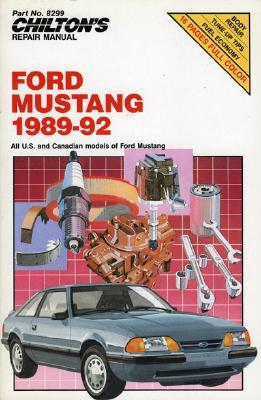 Mustang 1989-92 (Chiltons Repair Manual  by  Chilton Automotive Books