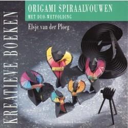 Origami spiraalvouwen met duo-wetfolding  by  Elsje van der Ploeg