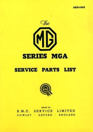 MG MGA 1500 Parts Catalog Brooklands Books Ltd