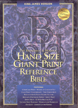 KJV Hand Size Giant Print Reference Bible, Black Bonded Leather  by  Anonymous