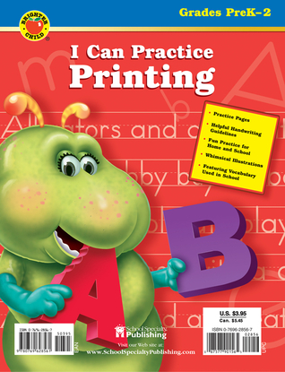 I Can Practice Printing, Grades K - 2  by  Brighter Child