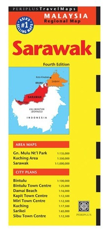 Sarawak Travel Map 4th Edition  by  Periplus Editors