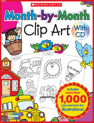 CLIP ART:   Month-by-Month Clip Art Book  by  NOT A BOOK