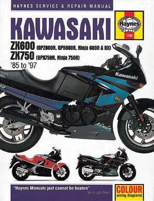 Kawasaki ZX600 (GPZ600R, GPX600R, Ninja 600R and RX) ZX 750 (GPX750R, Ninja 750R) 1985 to 1997 John Harold Haynes