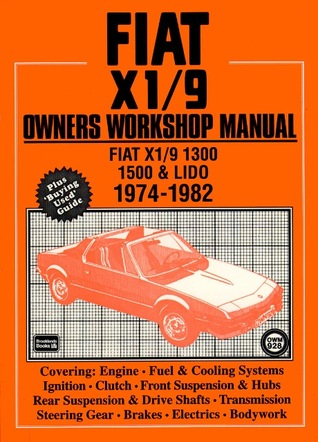 Fiat X1/9 Owners Workshop Manual  by  Brooklands Books Ltd