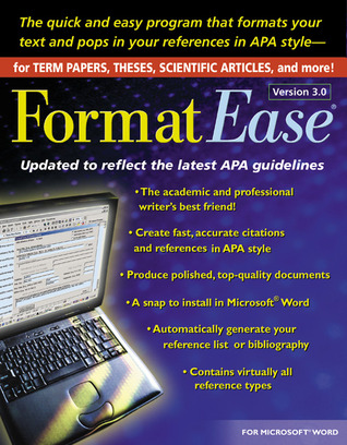 FormatEase, Version 3.0: Paper and Reference Formatting Software Guilford Press Software
