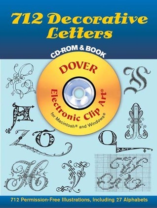 712 Decorative Letters CD-ROM and Book Dover Publications Inc.