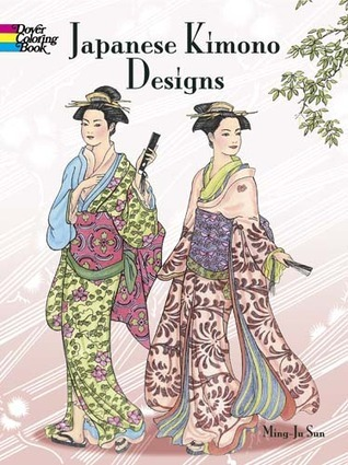Japanese Kimono Designs Coloring Book Ming-Ju Sun